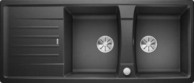 Blanco Lexa 8 S dobbel oppvaskkum i antrasitt sort farge
