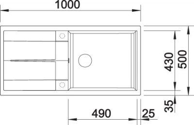 BLANCO BLANCOMETRA XL6S - Kjøkkenvask i Silgranit Antrasitt - vendbar