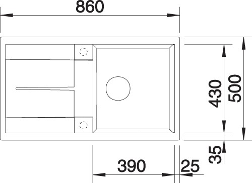 BLANCO BLANCOMETRA 5S - Kjøkkenvask i Silgranit Antrasitt - vendbar