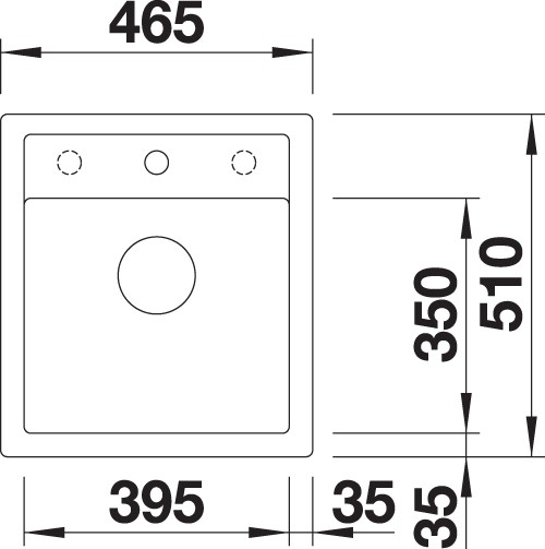 BLANCO BLANCODALAGO 45 - Kjøkkenvask i Silgranit Antrasitt