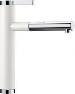 Blanco Linee-s kjøkkenkran i hvit farge med uttrekkstut 518441-1858237