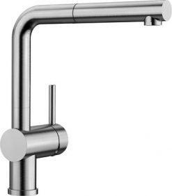 Oppvaskkum Blanco Linus-S kjøkkenkran i massiv børstet stål med uttrekkstut 517184-1851320
