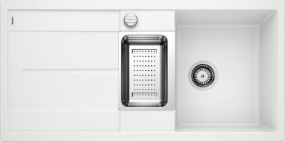 Blanco Metra 6S hvit oppvaskkum kjøkkenvask, vendbar høyre/venstre - 513046 1824010