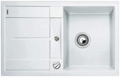 BLANCO BLANCOMETRA 45S - Kjøkkenvask i Silgranit - hvit - vendbar