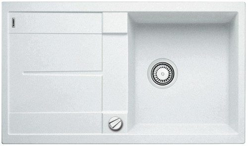 BLANCO BLANCOMETRA 5S - Kjøkkenvask i Silgranit hvit - vendbar