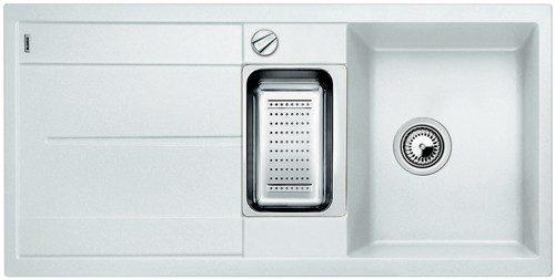 BLANCO BLANCOMETRA 6S - Kjøkkenvask i Silgranit Hvit farge - vendbar
