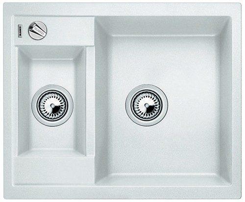 BLANCO BLANCOMETRA 6 - Kjøkkenvask i Silgranit Hvit farge - vendbar