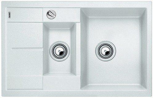 BLANCO BLANCOMETRA 6S COMPACT - Kjøkkenvask i Hvit farge - vendbar