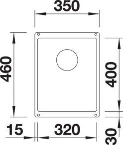 BLANCO BLANCOSUBLINE 320-U - Silgranit Antrasitt - for underliming