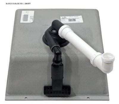 Blanco Subline 400-U svart / sort / antrasitt oppvaskkum kjøkkenvask for underliming 1825376 - 523422