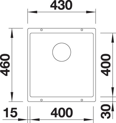 BLANCO BLANCOSUBLINE 400-U - Silgranit Antrasitt - for underliming