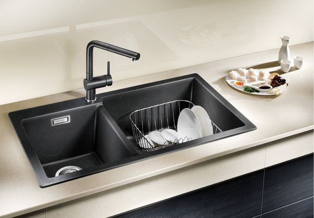 BLANCO LINUS-S – Kjøkkenkran i Antrasitt farge med uttrekkstut