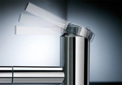 BLANCO LINEE-S - Kjøkkenkran i massiv børstet stål med uttrekkstut