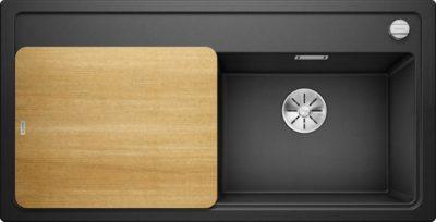 oppvaskkum - Blanco Zenar XL 6 S i Antrasitt sort farge, med design skjærefjel i ask