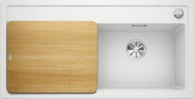 oppvaskkum - Blanco Zenar XL 6 S i Hvit farge, med design skjærefjel i ask - 523958 - 1831742