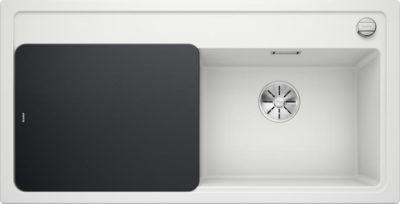 oppvaskkum - Blanco Zenar XL 6 S i Hvit farge, med design skjærefjel i herdet sort glass - 523889 - 1814687