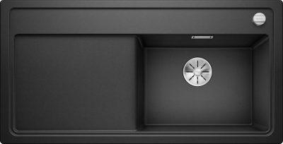Oppvaskkum Blanco Zenar XL 6 S Infino Venstre med skjærefjel i herdet sort glass - 1831704 - 523944