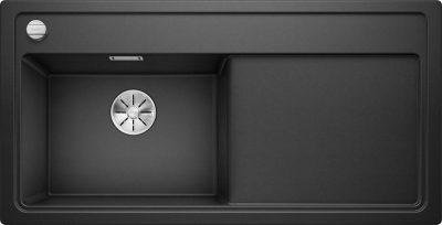 Oppvaskkum Blanco Zenar XL 6 S Infino Venstre med skjærefjel i herdet sort glass - 1831605 - 523974