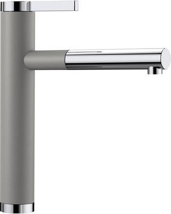 Blanco Linee-s kjøkkenkran i alumetallic grå farge med uttrekkstut 518439-1858213