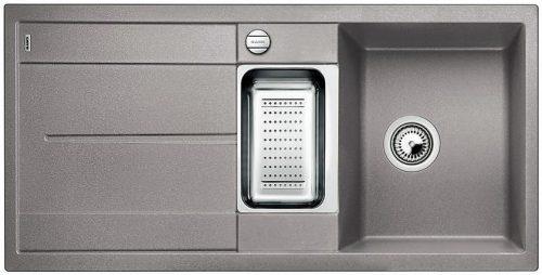 Blanco Metra 6S alumetallic grå farge oppvaskkum kjøkkenvask, vendbar høyre/venstre - 513045 - 1824003