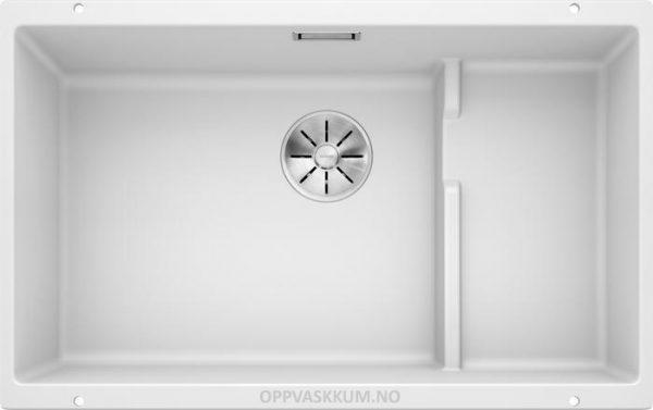 Blanco Subline 700-U level oppvaskkum kjøkkenvask med InFino design silkurv og trådkurv i rustfritt stål 523446-1822238