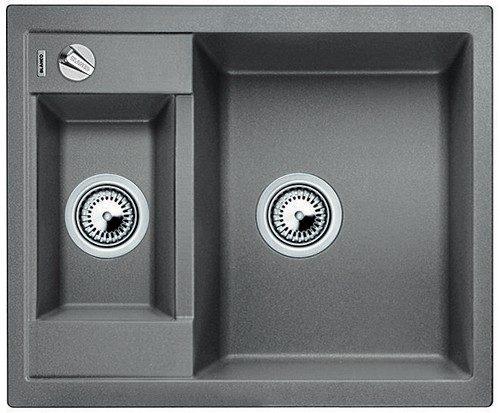 BLANCO BLANCOMETRA 6 - Kjøkkenvask i Silgranitt Alumetallic farge - vendbar