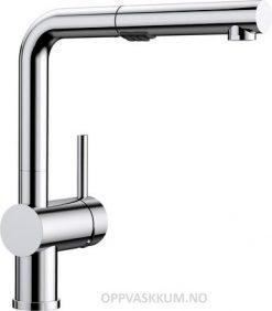 Oppvaskkum Blanco Linus-S kjøkkenkran i krom farge med uttrekkstut og dusj 518406-1851344