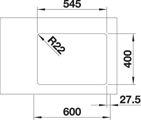 BLANCOANDANO 340/180-U - FOR UNDERLIMING - STOR KUM HØYRE