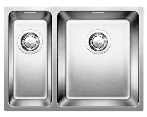 BLANCOANDANO 340/180-IF - Stor kum høyre - kjøkkenvask i stål