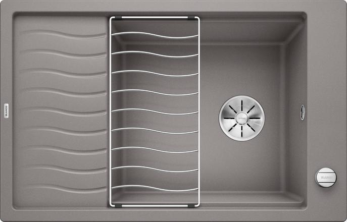 Blanco Elon XL 6 S InFino alumetallic grå nedfelt kjøkkenvask for 60cm skap 524836 - 1826328