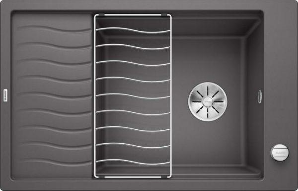 Blanco Elon XL 6 S InFino lavagrå nedfelt kjøkkenvask for 60cm skap 524835 - 1826304