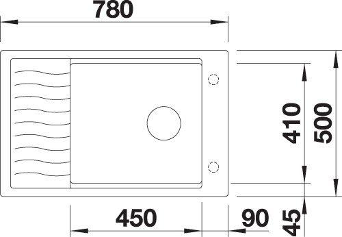 BLANCO BLANCOELON XL 6S - Kjøkkenvask i Silgranit Antrasitt