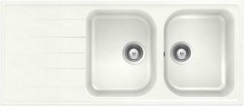 SCHOCK Viola D200 Alpina hvit oppvaskkum kjøkkenvask med 2 kummer