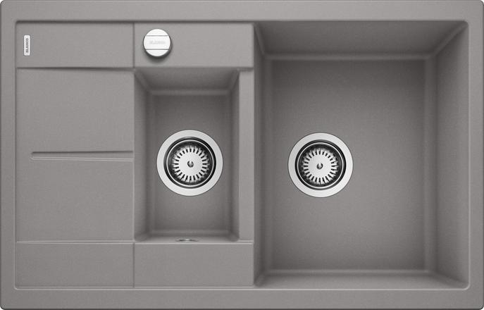Blanco Metra 6 Compact alumetallic grå farge oppvaskkum kjøkkenvask, vendbar høyre/venstre - 513553 - 1825802
