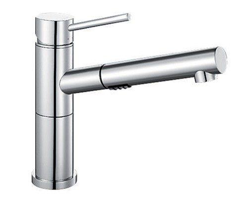 BLANCO ALTA-S COMPACT VARIO - Kjøkkenkran i Krom - uttrekkbar dusj og 2 stråler