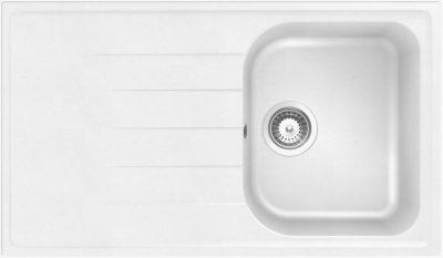 Shcock Viola D100 kjøkkenvask i silgranitt hvit farge