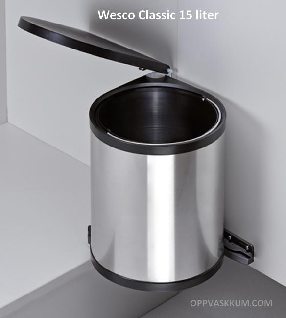 Wesco Kjøkken automatisk avfallsbøtte 15 liter