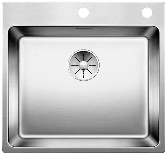 Blanco Andano 500 IF/A rustfritt stål oppvaskkum med bakplate og oppløft med hendel
