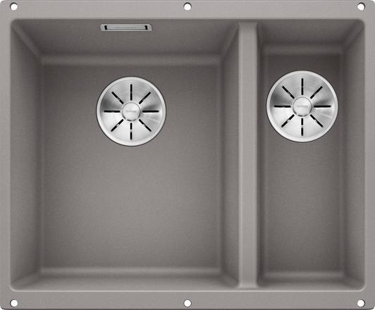 Blanco Subline 340/160-U oppvaskkum kjøkkenvask i Alumetallic grå fare for underliming i 60cm underskap - 523550 - 1826502