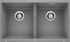Blanco Subline 350/350 alumetallic grå farge oppvaskkum kjøkkenvask 1822306-516286