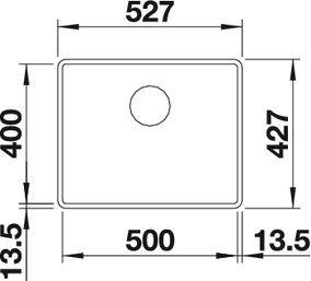 BLANCO SUBLINE 500-F - Alumetallic - for planliming