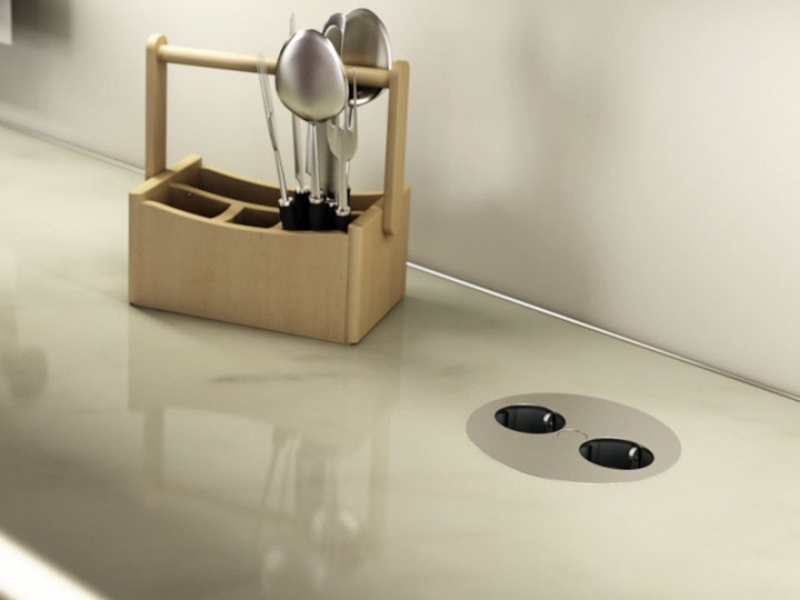 Bachmann Twist design el-punkt for kjøkken benkeplate