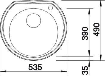 BLANCORONDOVAL 45 IF – Rund kum i børstet rustfritt stål