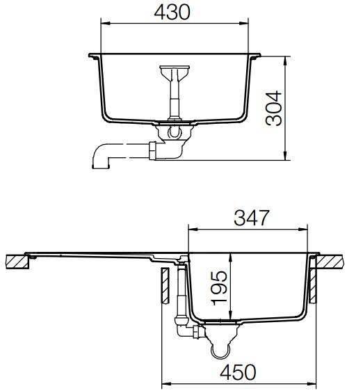 SCHOCK Primus D-100 Alpina hvit – Vendbar