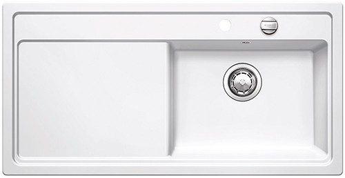 BLANCOZENAR XL 6 S H - Kjøkkenvask i Hvit keramisk porselen