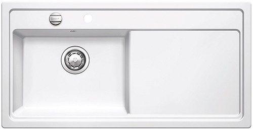 BLANCOZENAR XL 6 S V - Kjøkkenvask i Hvit keramisk porselen