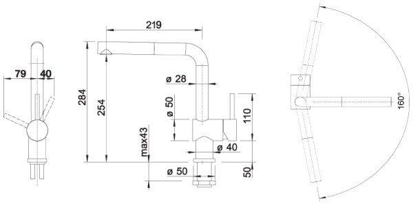 Blanco Linus-S kjøkkenkran med uttrekk kjøkken armatur