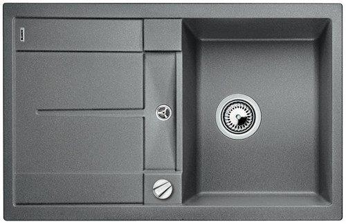 BLANCO BLANCOMETRA 45 S-F - Kjøkkenvask i Alumetallic farge - vendbar - For planliming