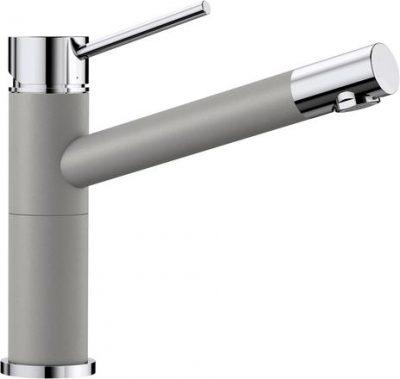 Blanco Alta Compact kjøkkenkran i alumetallic grå farge - dreibar tut - 515316-1853904