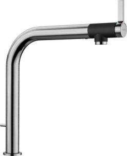oppvaskkum blandebatteri Blanco Vonda Control i børstet stål, med integrert hendel for oppløft i kjøkkenvask - 1858565 - 518437